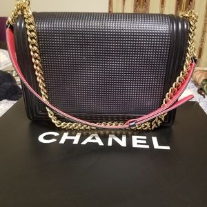 487c13983422a7 CHANEL Bags | Lambskin Embossed Large Cube Boy Bag | Poshmark